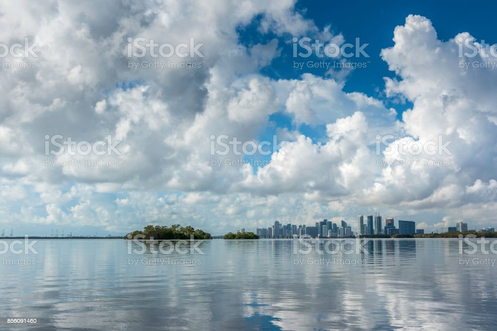 Miami reflections stock photo