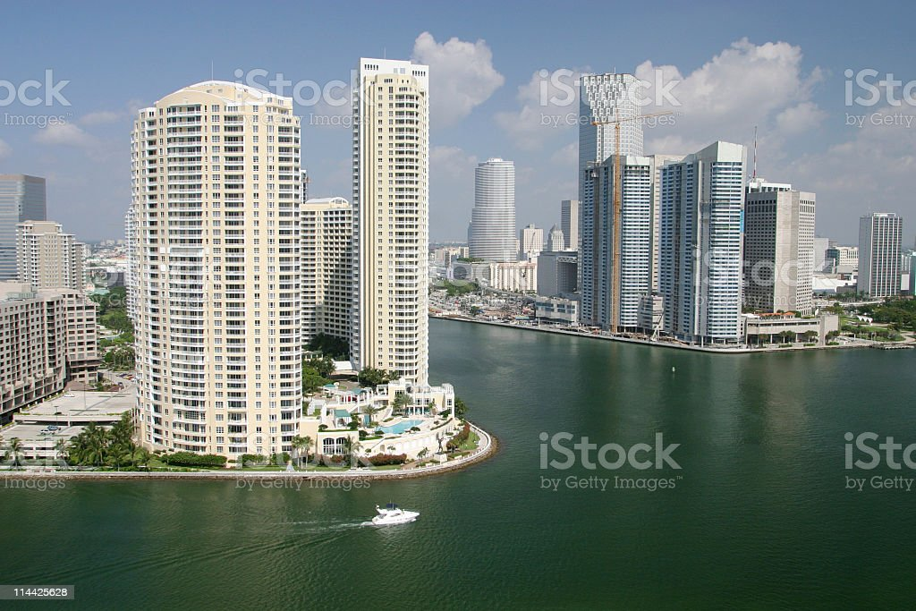 Miami River royalty-free stock photo