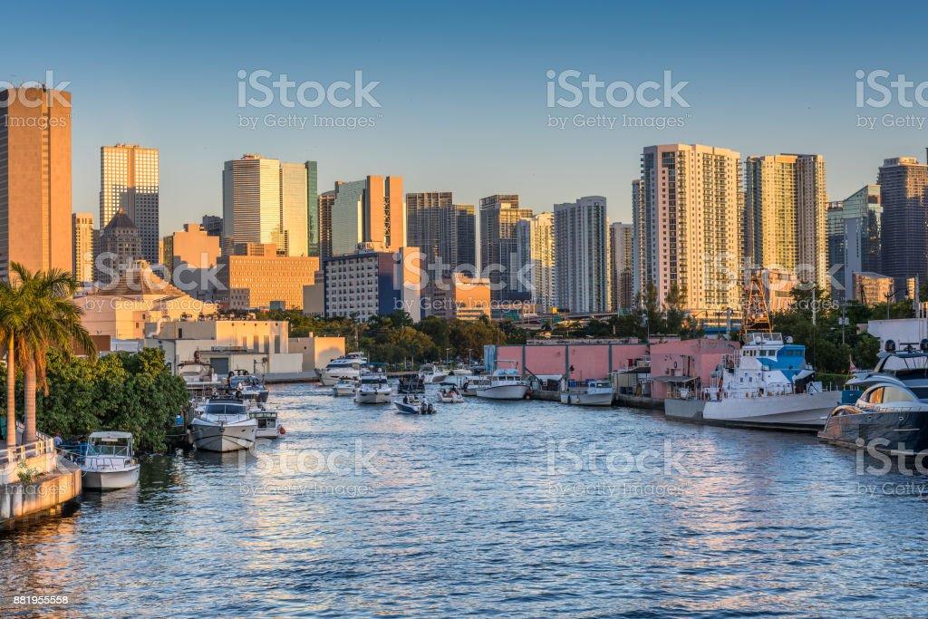 Miami River Sonnenuntergang – Foto
