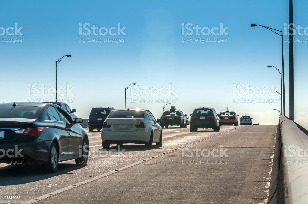 Miami rusningstid bildbanksfoto