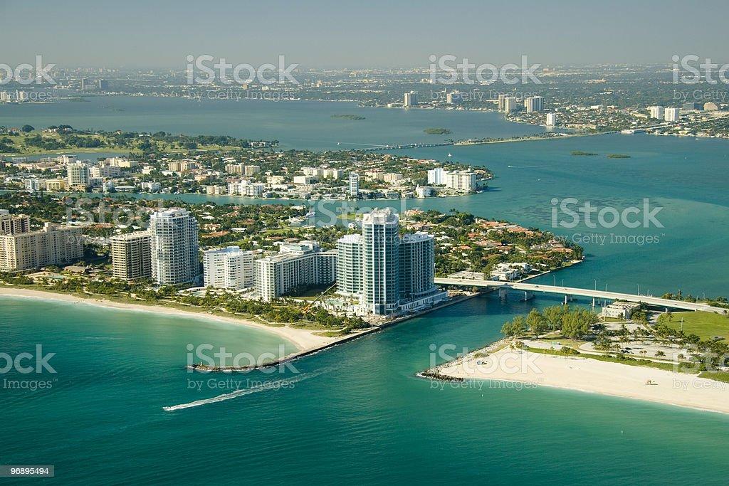 Miami seashores royalty-free stock photo
