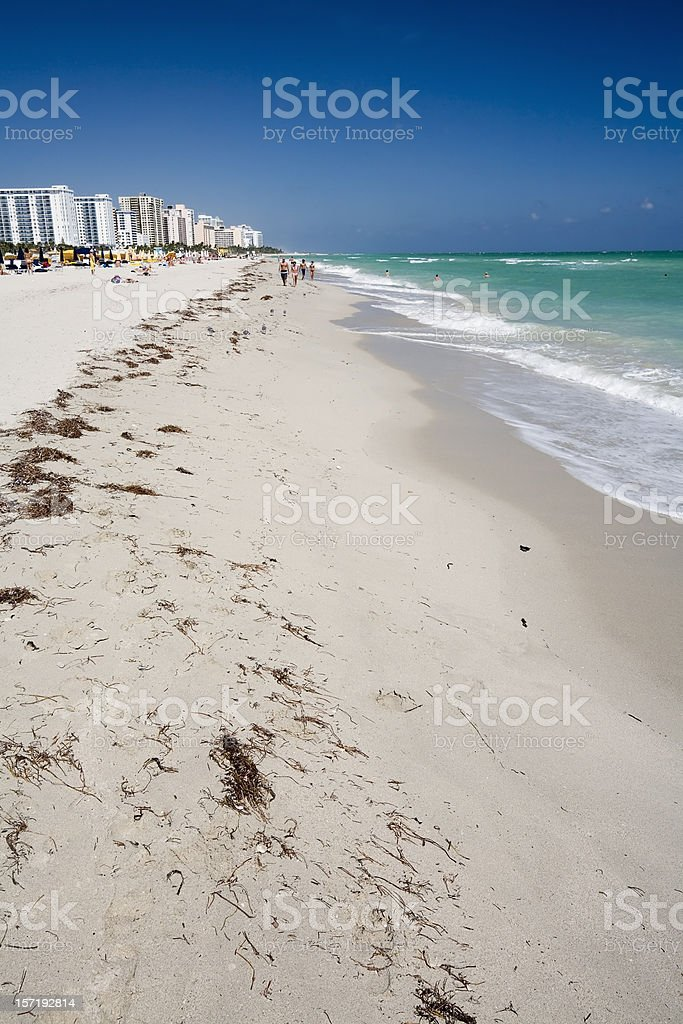 Miami Seaside. South Beach royalty-free stock photo