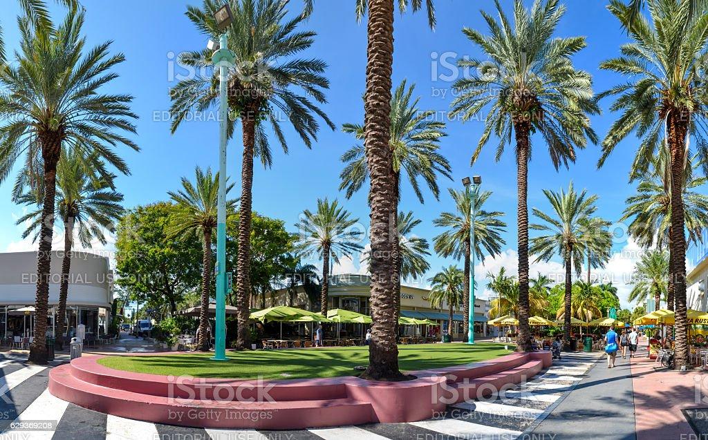 Miami Shopping Precinct Lincoln Mall stock photo
