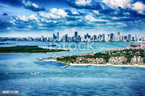 istock Miami Skyline Aerial 809012796