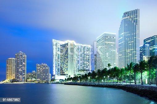 istock Miami skyline at night 914867982