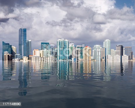 istock Miami skyline concept of sea level rise and flooding from global warming 1171148590