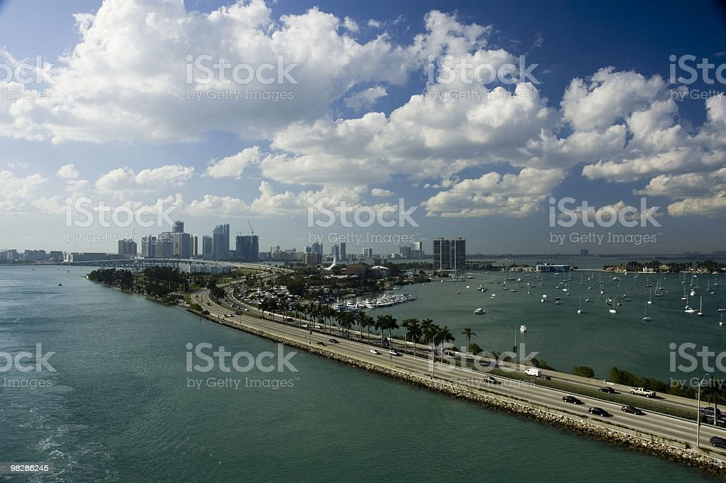 Miami skyline. Florida, USA royalty-free stock photo