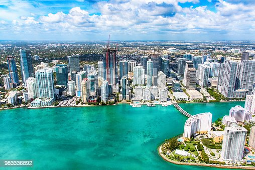 802893644 istock photo Miami Skyline From Over Biscayne Bay 983336892
