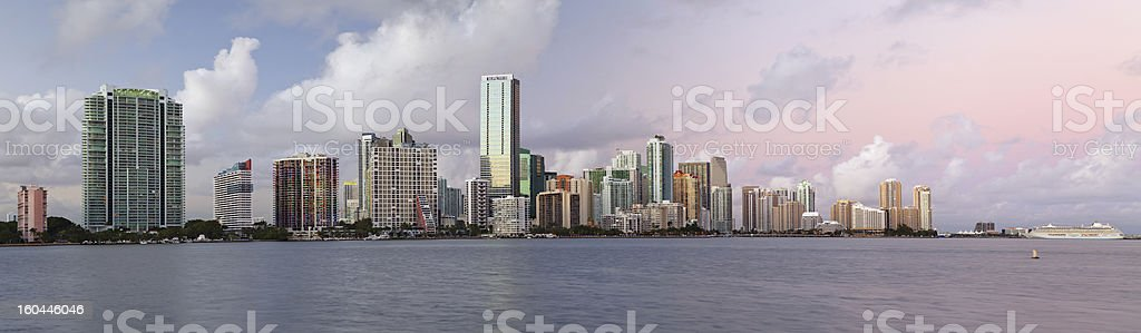 Miami Skyline Panorama. royalty-free stock photo