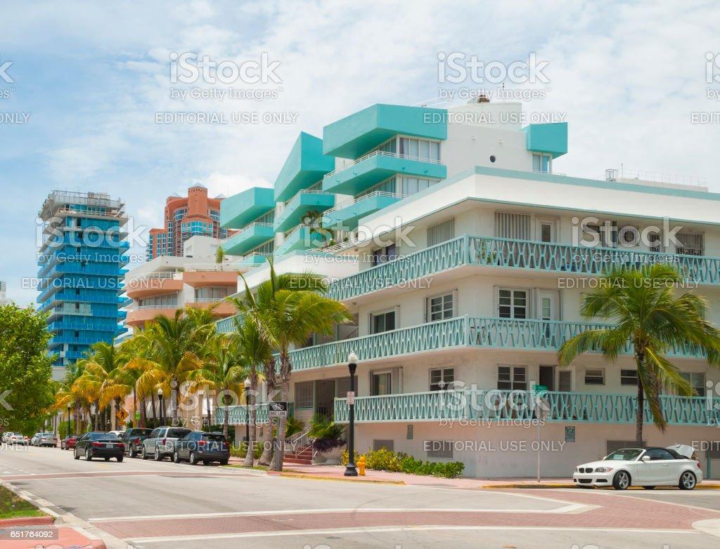 Miami South Beach, Art Deco District stock photo