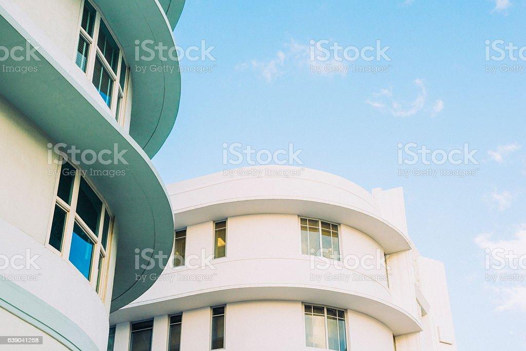 Miami South Beach Art Deco Lincoln Road Architecture USA Travel stock photo