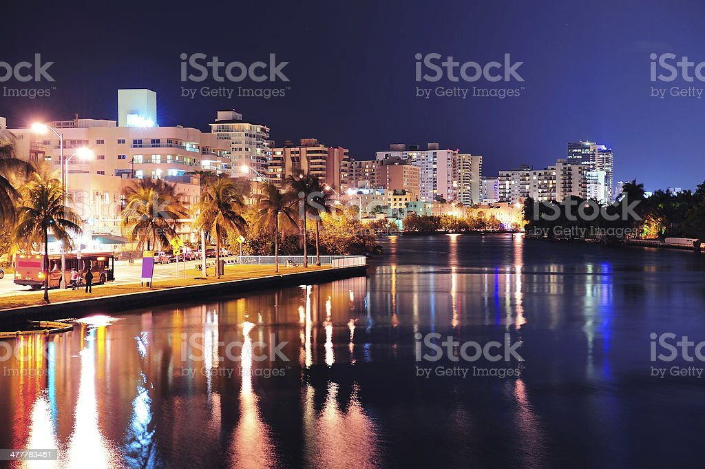 Miami south beach street royalty-free stock photo