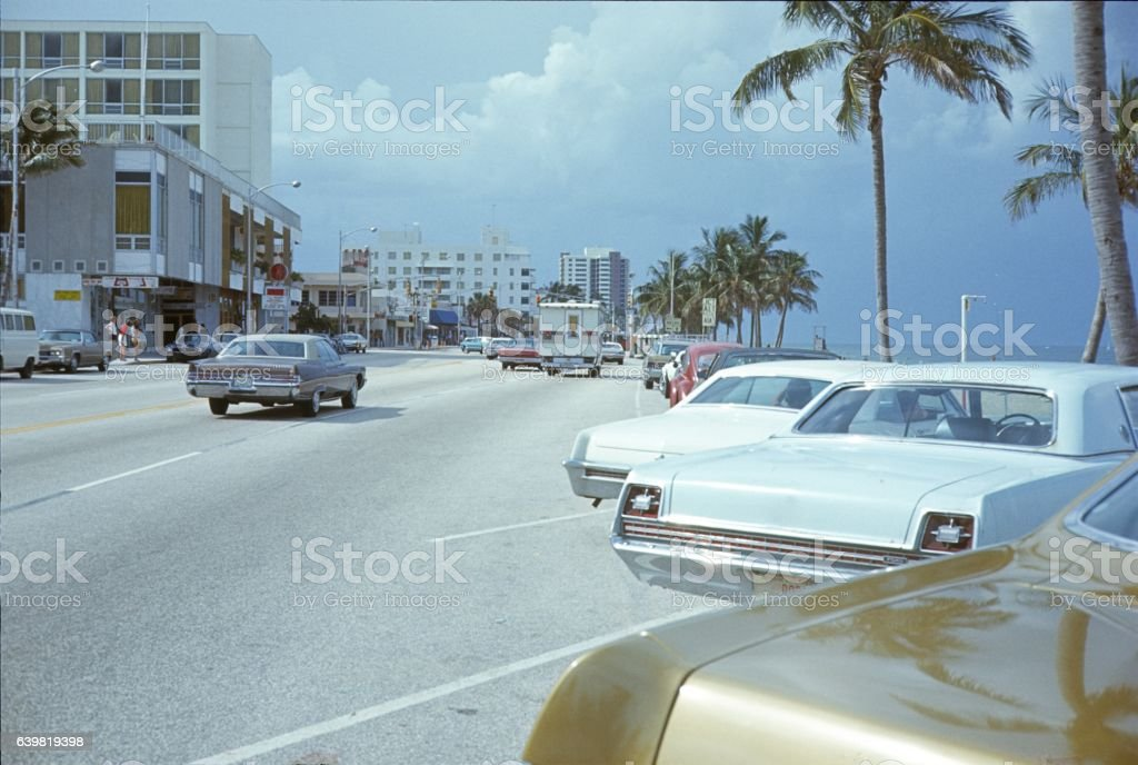 Miami, street scene, Florida stock photo