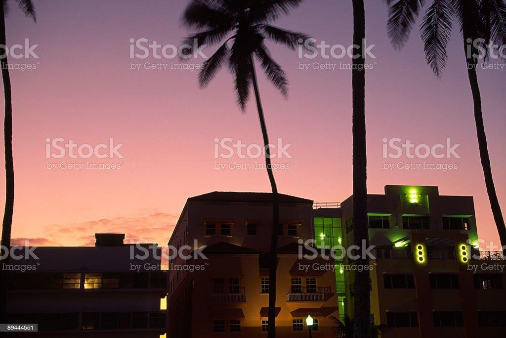 Miami sunset royalty-free stock photo