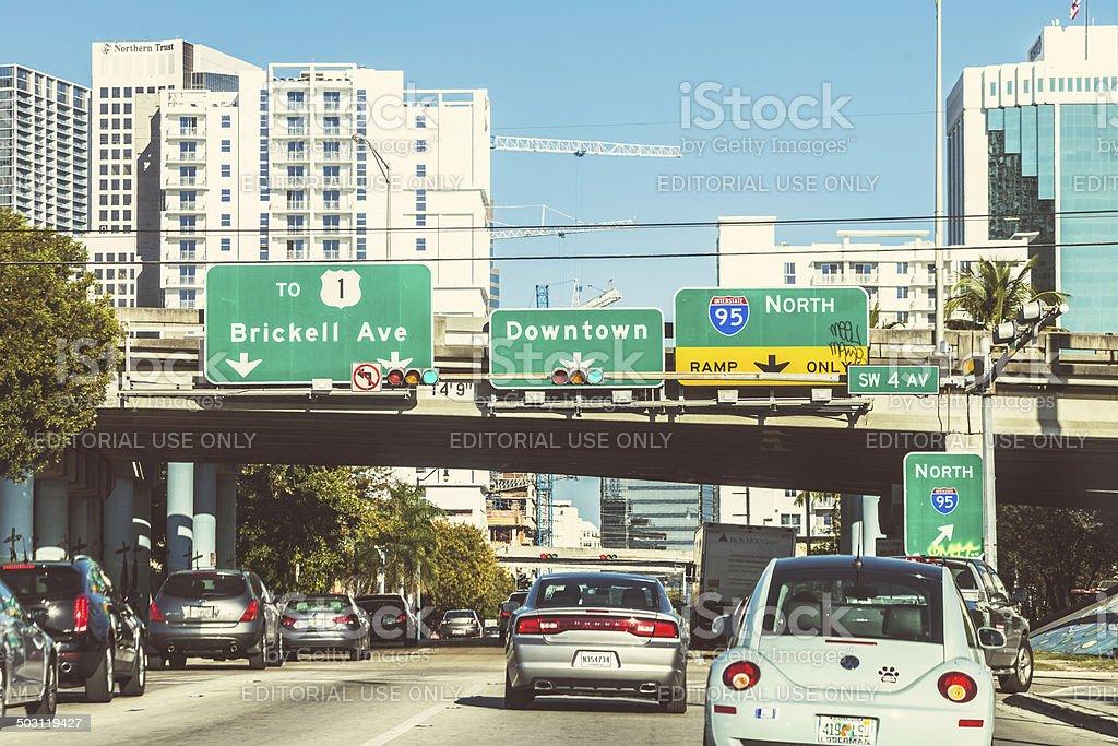 Miami traffic. royalty-free stock photo