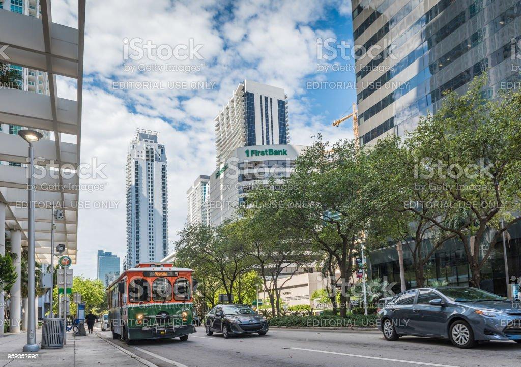Miami Trolley stock photo