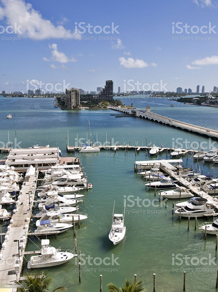 Miami, view of Venetian Way royalty-free stock photo