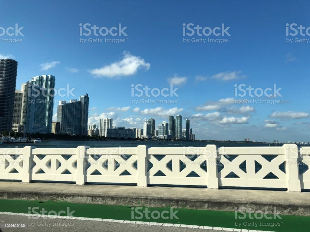 Miami with a nice weather stock photo