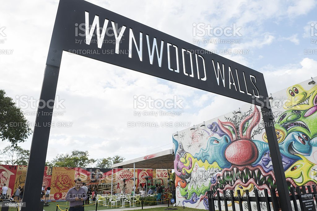 Miami Wynwood Walls Arts Neighborhood Travel Destination royalty-free stock photo