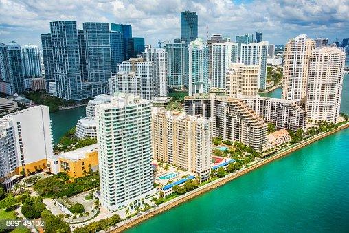 istock Miami's Brickell Key Aerial 869149102