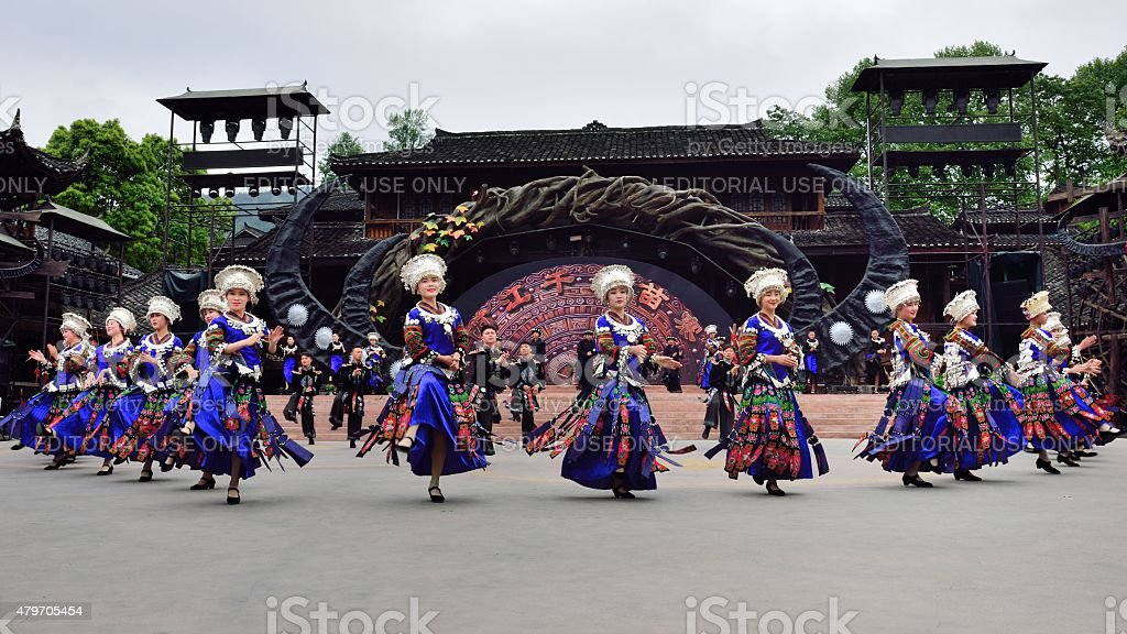 Miao songs and dances 01 stock photo