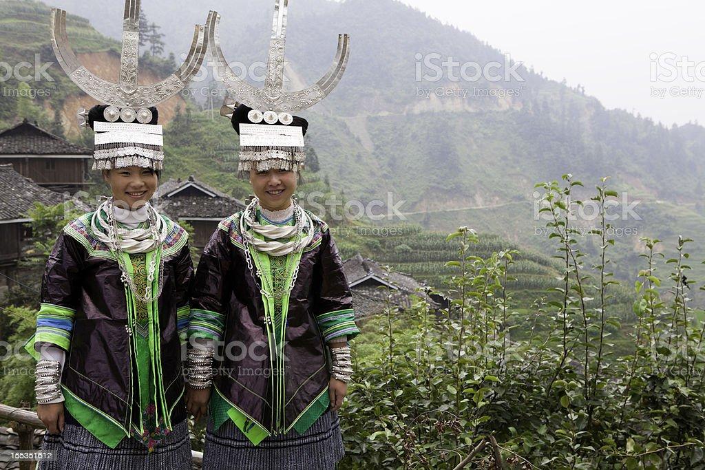 Miao Tribe Girls stock photo