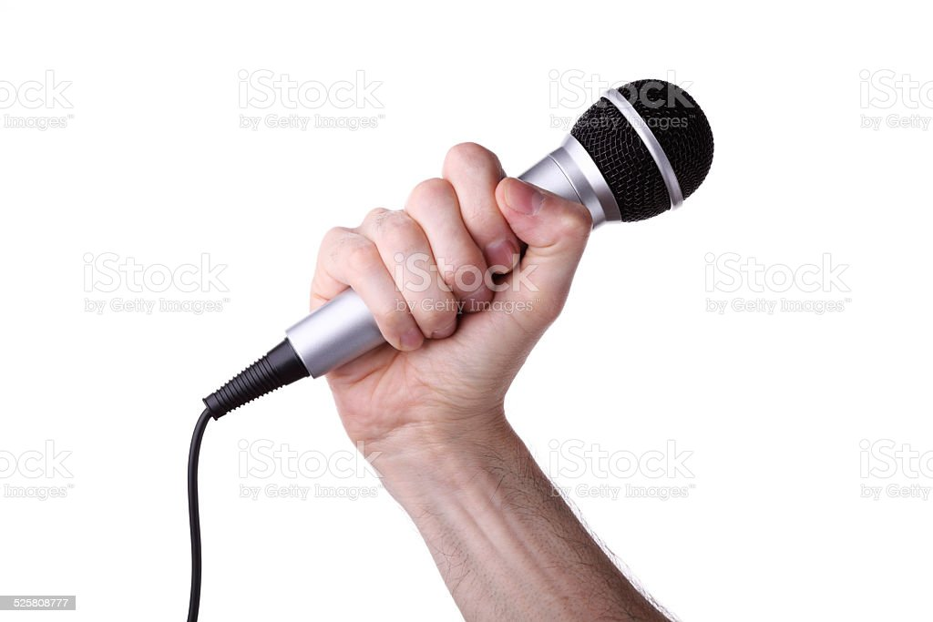 Mic in Hand royalty-free stock photo