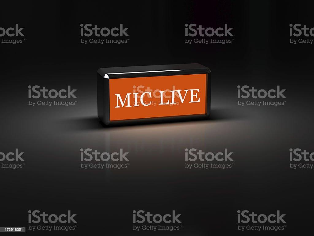 Mic Live royalty-free stock photo