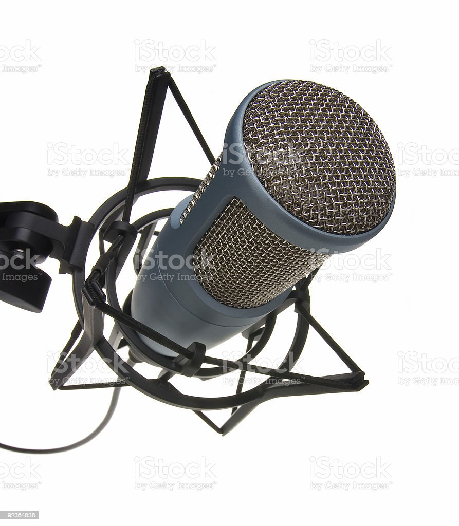 Mic on white 5 royalty-free stock photo