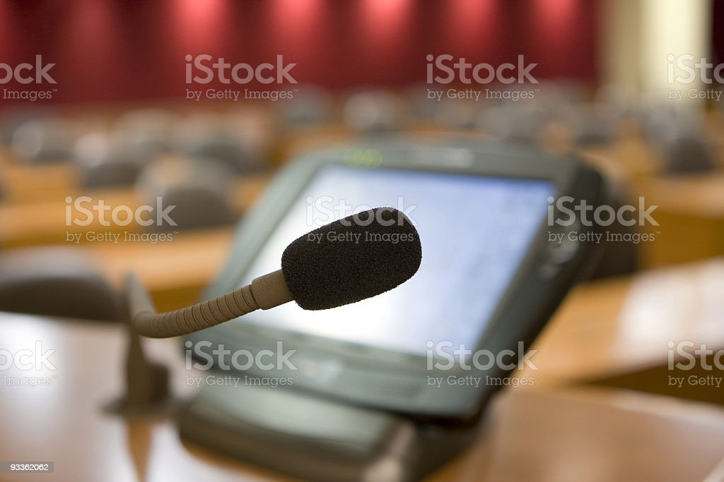 Mic Test royalty-free stock photo