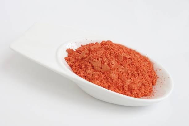 mica powder pigment, orange color for cosmetic - łupek łyszczykowy zdjęcia i obrazy z banku zdjęć