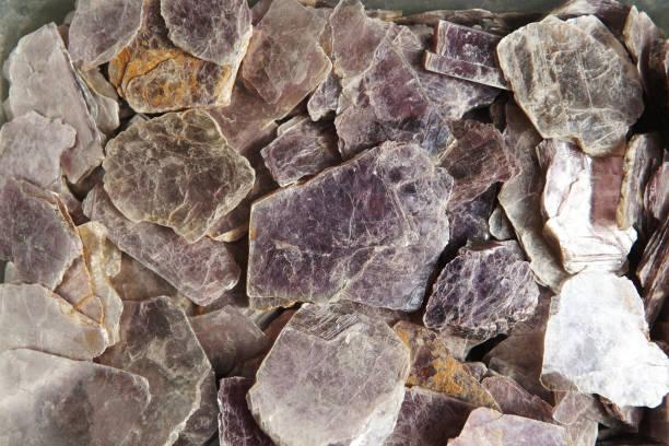 mica schist gemstone - łupek łyszczykowy zdjęcia i obrazy z banku zdjęć