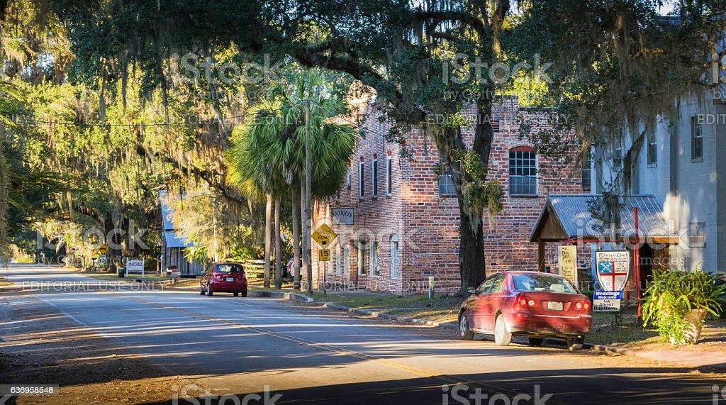 Micanopy, Florida Street Scene stock photo