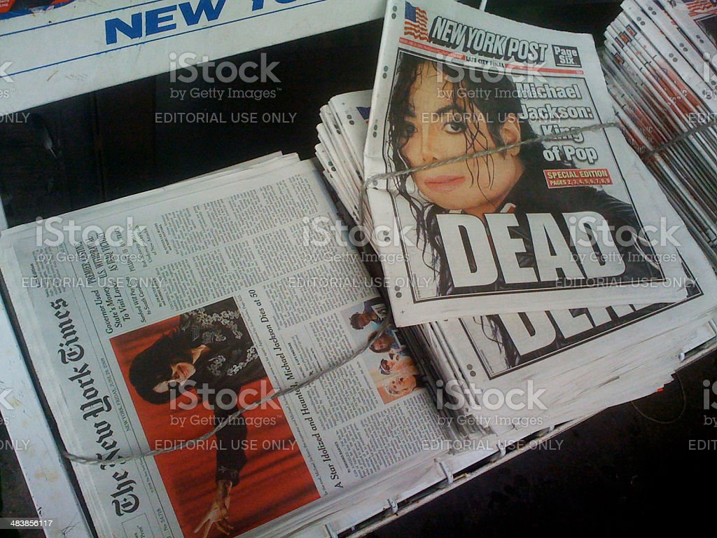 Michael Jackson Dead stock photo