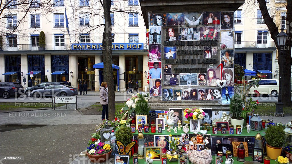 Michael Jackson memorial in Munich stock photo