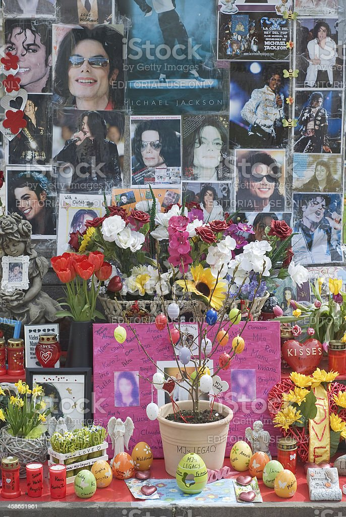 Michael Jackson Memorial stock photo