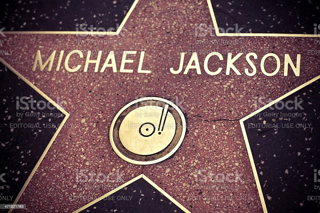 Michael Jackson Star stock photo