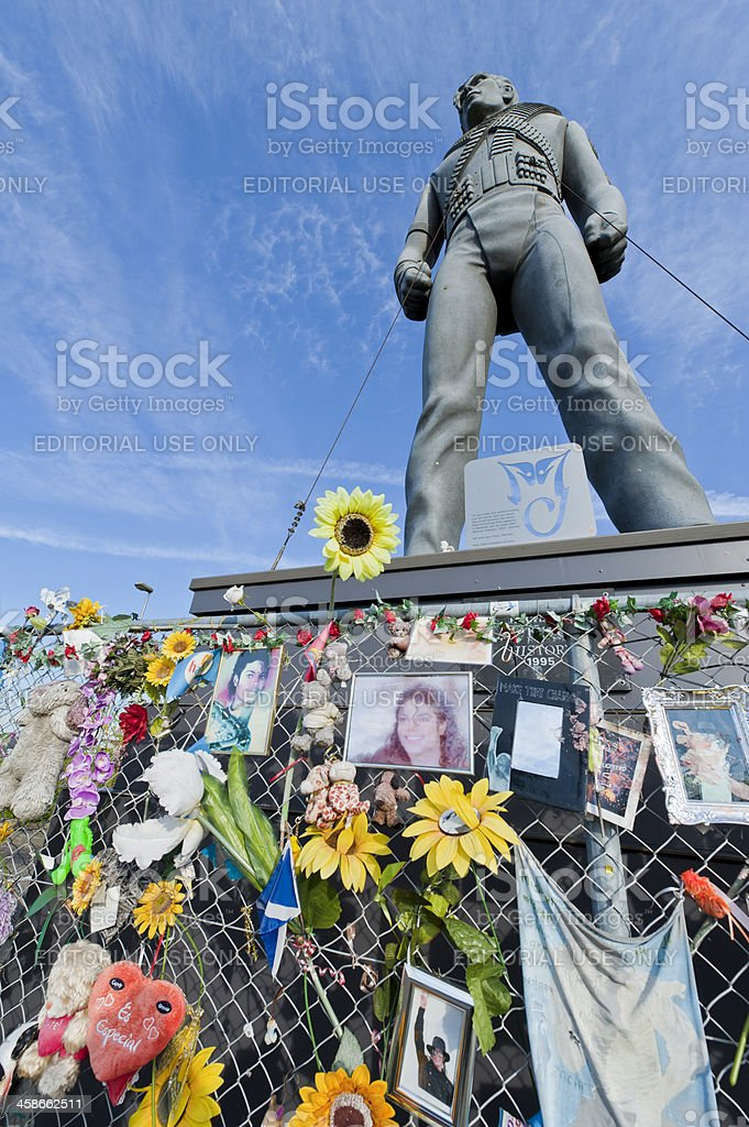 Michael Jackson statue in Best, Netherlands stock photo