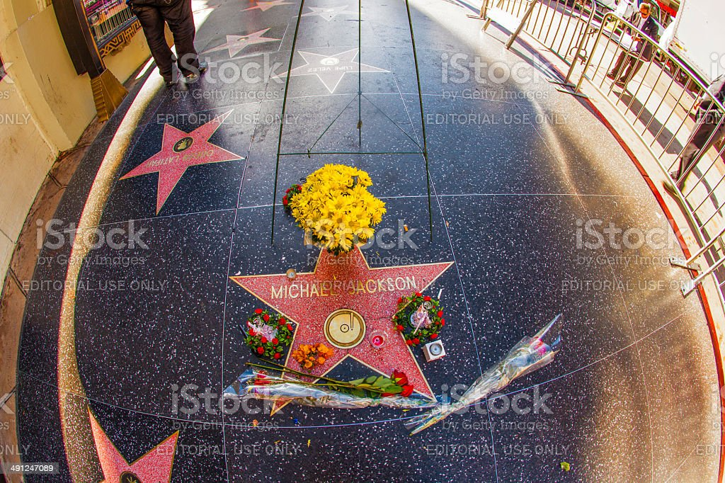 Michael Jackson's star on the Hollywood Walk of Fame stock photo