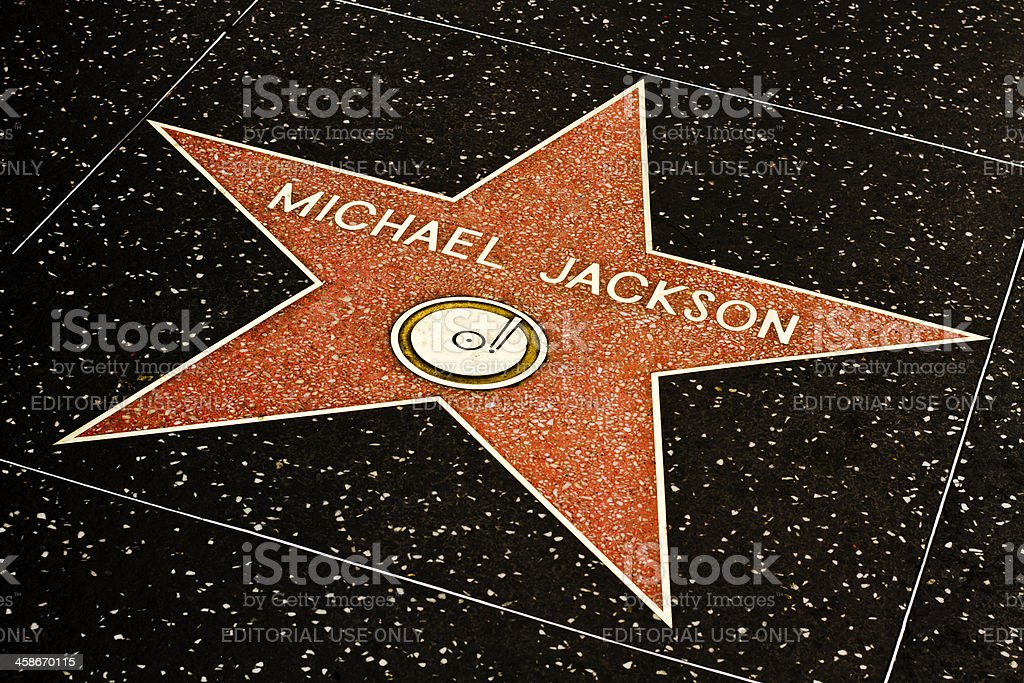 Michael Jackson's Star on Walk of Fame stock photo