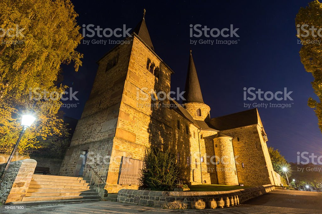 Michaels Church In Fulda Germany At Night Stock Photo & More
