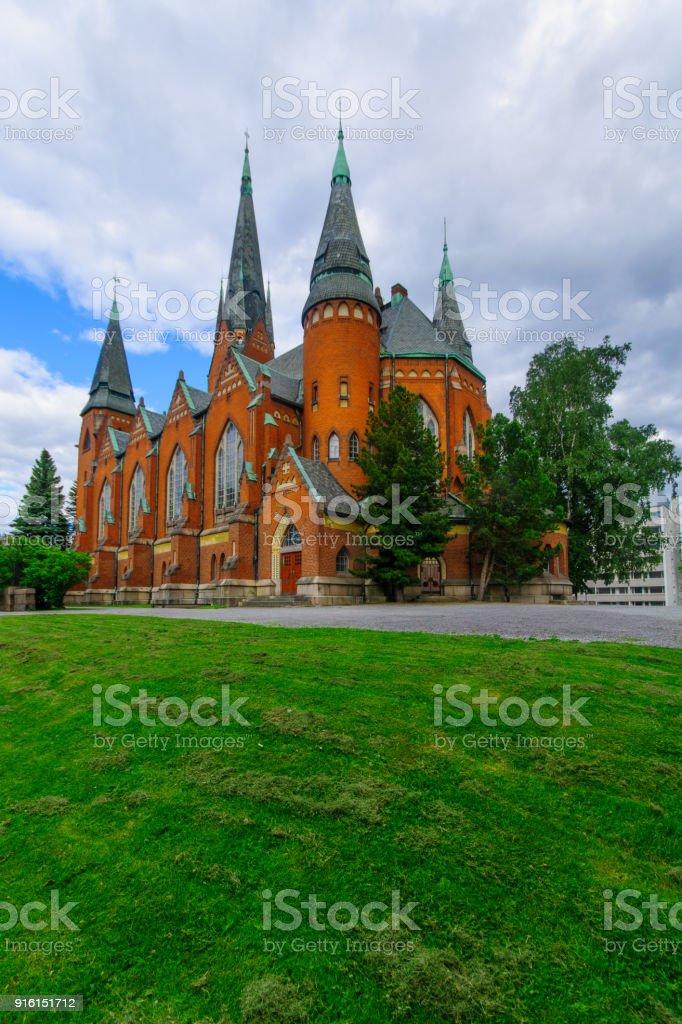 Michaels Church, in Turku stock photo