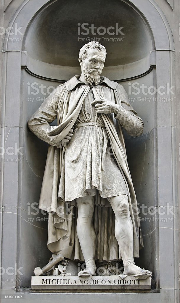 Michelangelo Buonarroti statue royalty-free stock photo