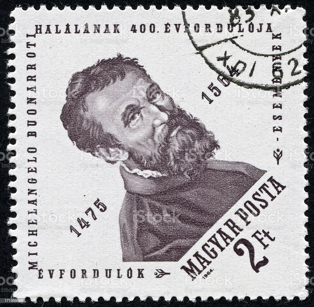 Michelangelo Stamp royalty-free stock photo