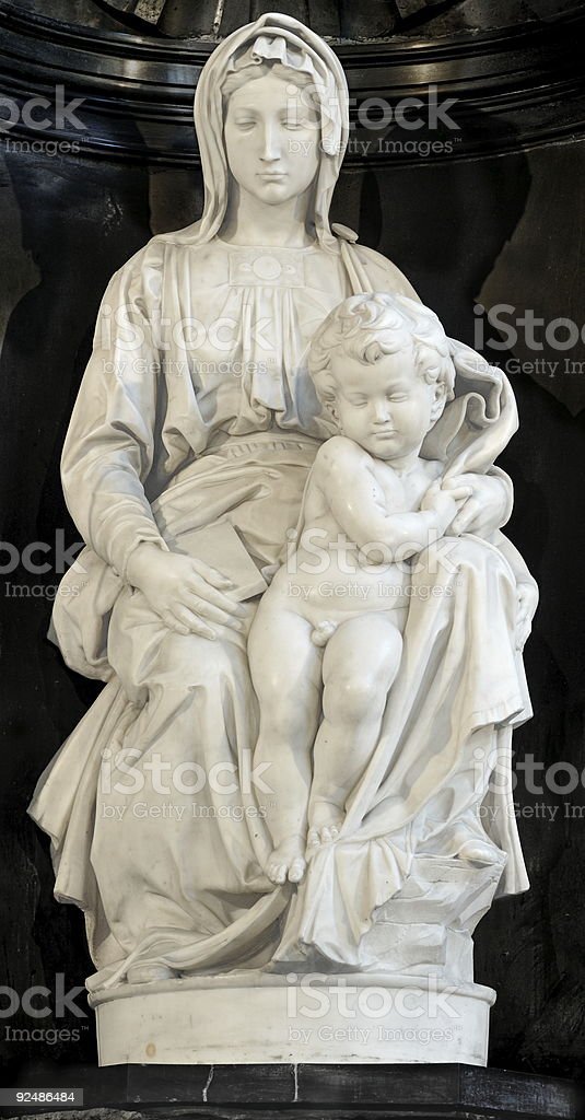Michelangelo's Madonna of Bruges royalty-free stock photo