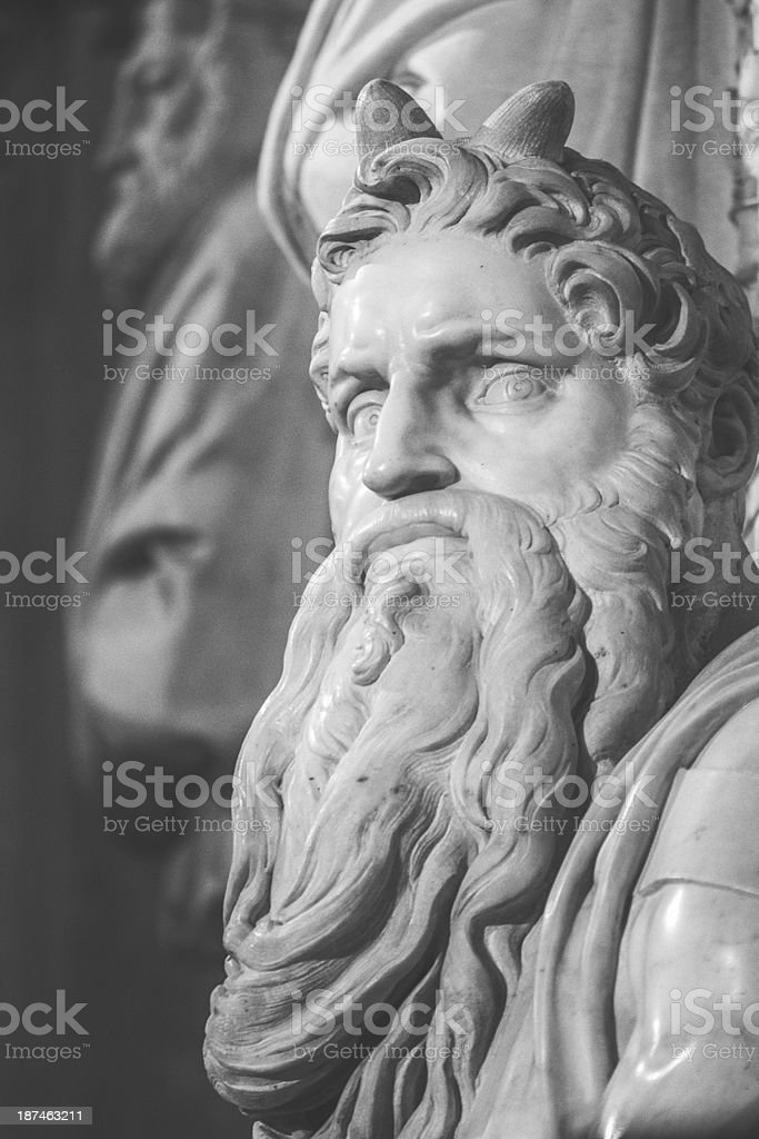 Michelangelo's Moses n San Pietro in Vincoli church stock photo