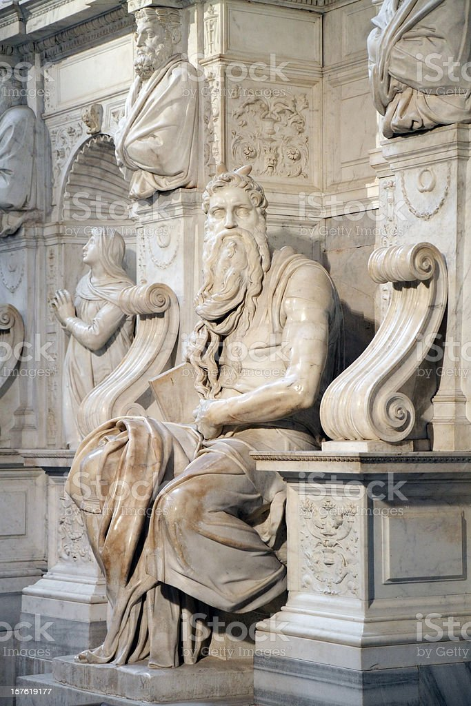 Michelangelo's Moses royalty-free stock photo