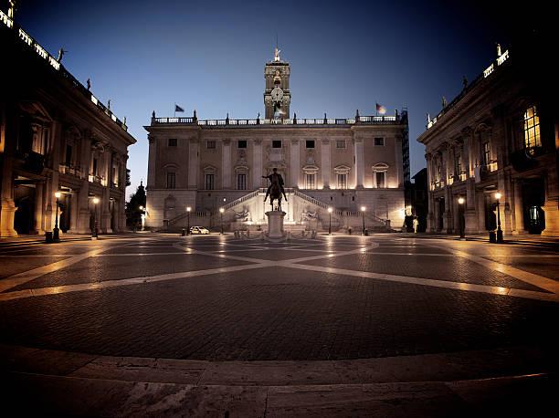 Michelangelo's Piazza del Campidoglio In Rom – Foto