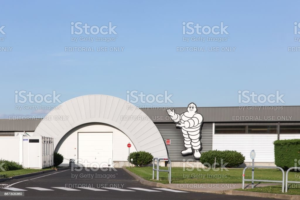 Michelin factory in Clermont-Ferrand, France stock photo