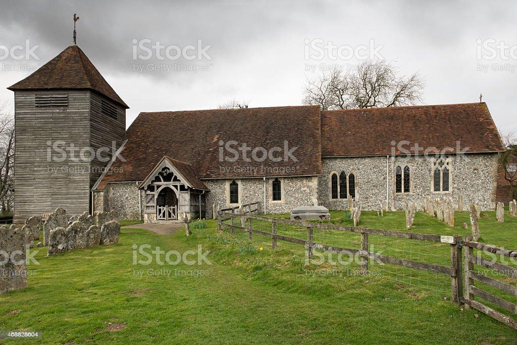 Michelmersh Church stock photo
